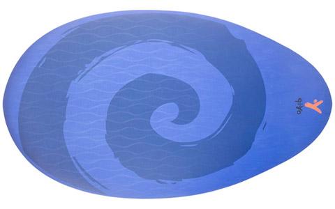 Qi Yo Portable Water Drop Oval Yoga Mat